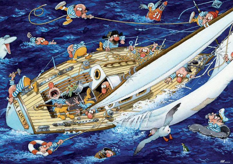 Loup, Sailors Cartoons Jigsaw Puzzle