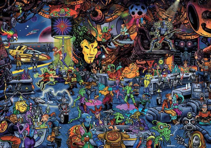 Theurer, Spacebar Cartoons Jigsaw Puzzle
