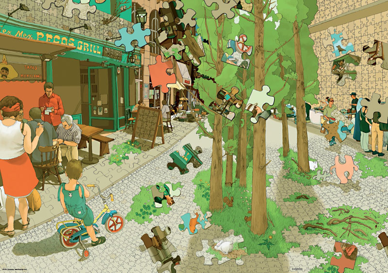 Kozyndan, Puzzleworld Cartoons Jigsaw Puzzle