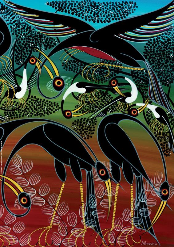 Tinga Tinga, Cranes Birds Jigsaw Puzzle