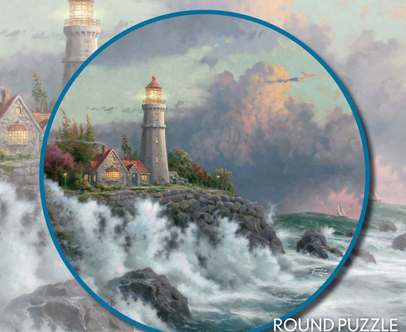 Thomas Kinkade Round - Conquering The Storms