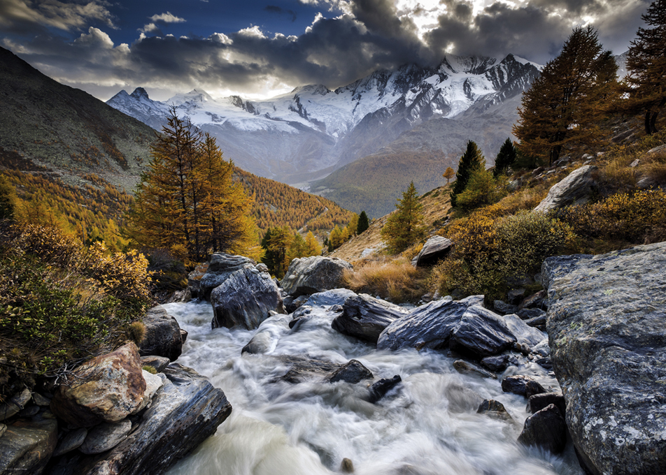 Mountain Stream Mountains Jigsaw Puzzle