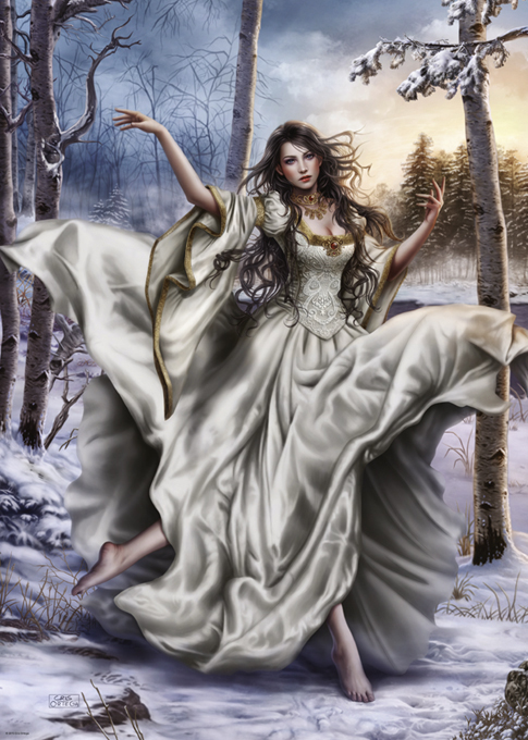 White Dream Gothic Jigsaw Puzzle