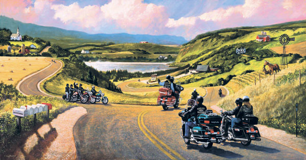 All Roads Lead to Sturgis Countryside Jigsaw Puzzle