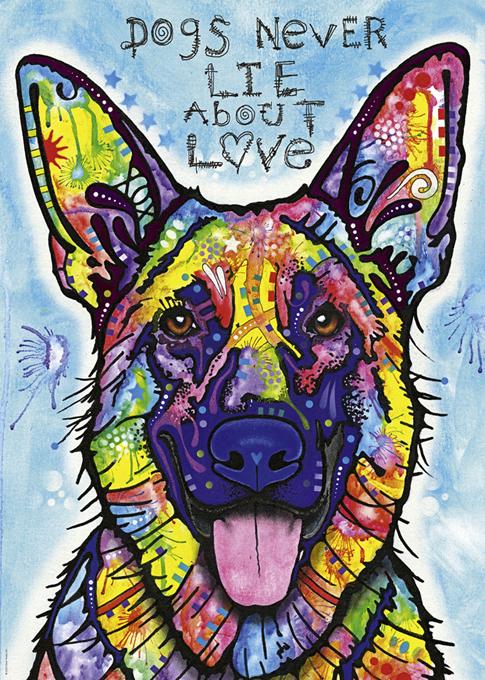 Dogs Never Lie Contemporary & Modern Art Jigsaw Puzzle
