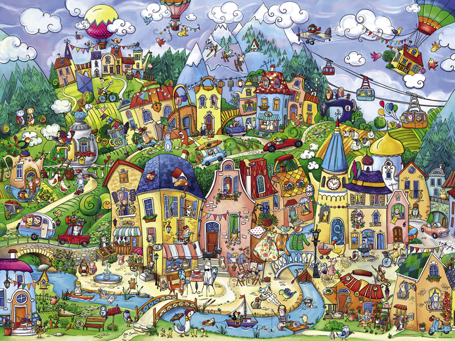 Happytown Countryside Jigsaw Puzzle