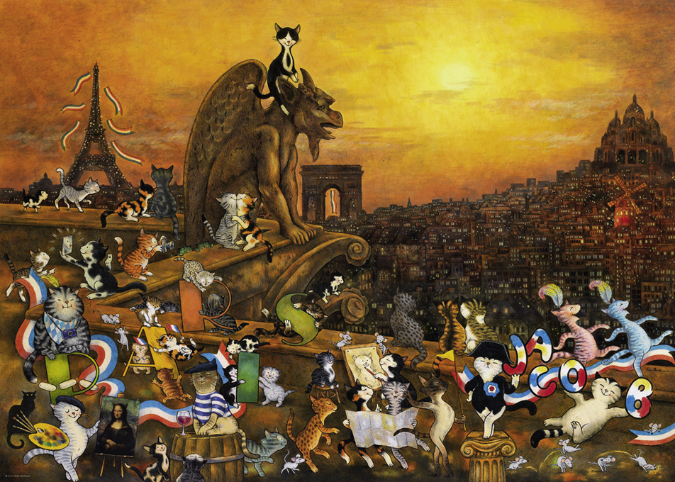 Cats in Paris ® Skyline / Cityscape Jigsaw Puzzle