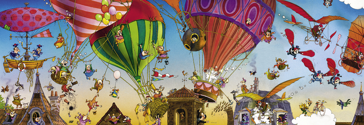 Ballooning Cartoons Jigsaw Puzzle