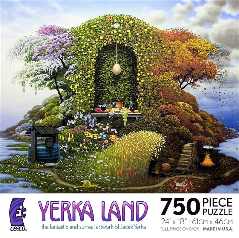 Yerka Land - Three Seasons Garden Jigsaw Puzzle