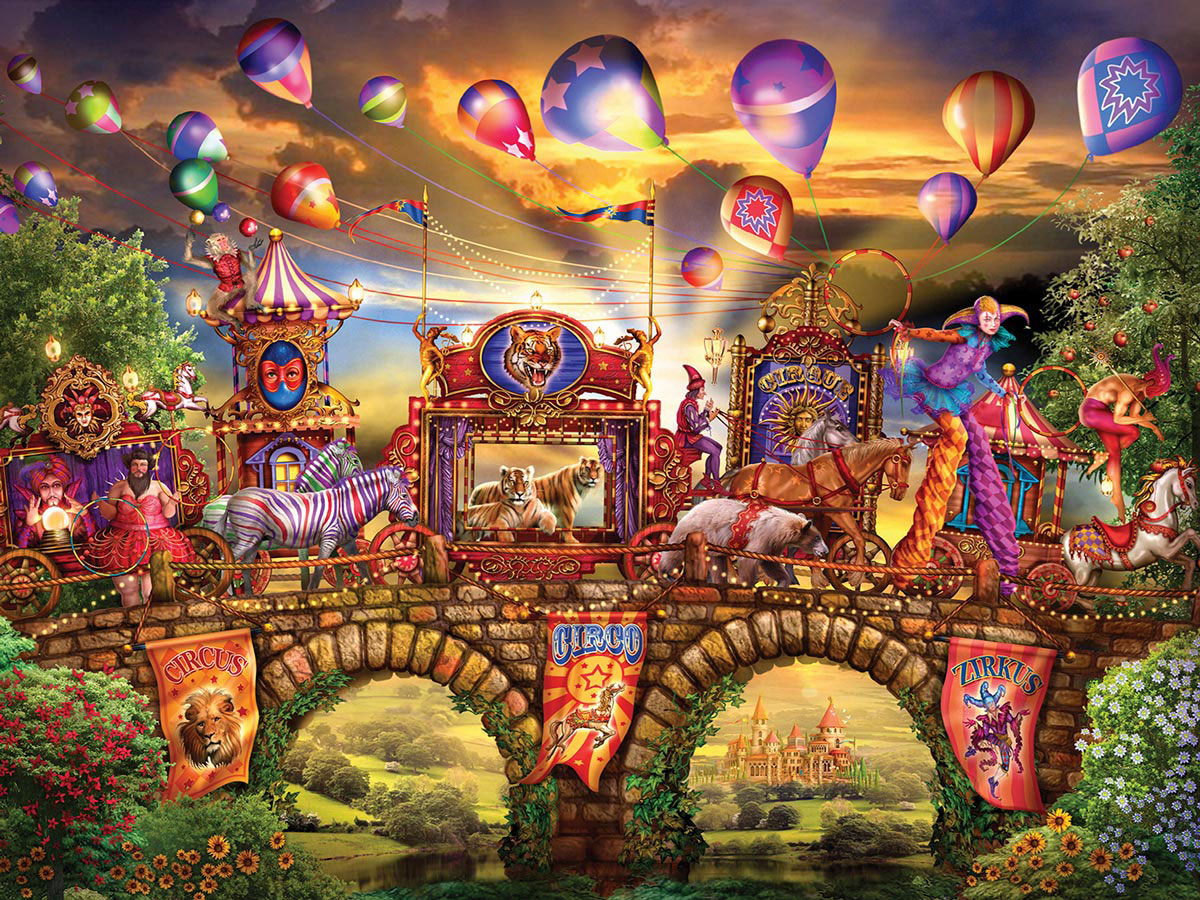 Carnivale Parade (Magical World) - Scratch and Dent Balloons Jigsaw Puzzle