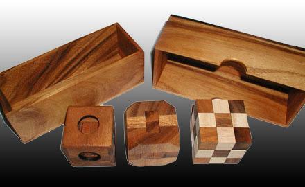 3 Puzzle Gift Set (Snake, Diamond Cube, Soma)