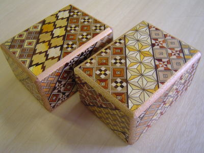Japanese Puzzle Box - 3 Sun 12 Step Koyosegi Pattern