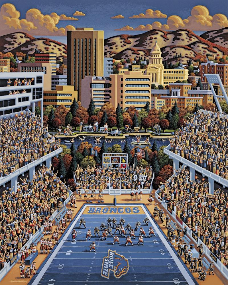 Boise State Broncos Skyline / Cityscape Jigsaw Puzzle
