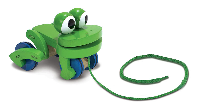 Frolicking Frog Pull Toy Frog