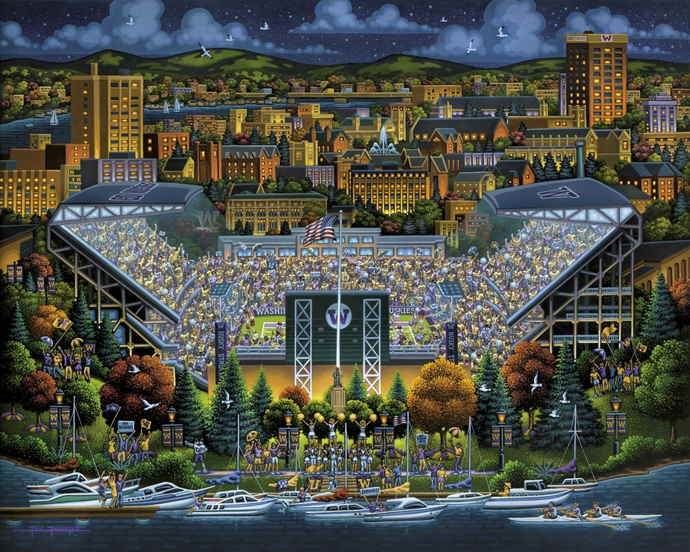 Washington Huskies Skyline / Cityscape Jigsaw Puzzle