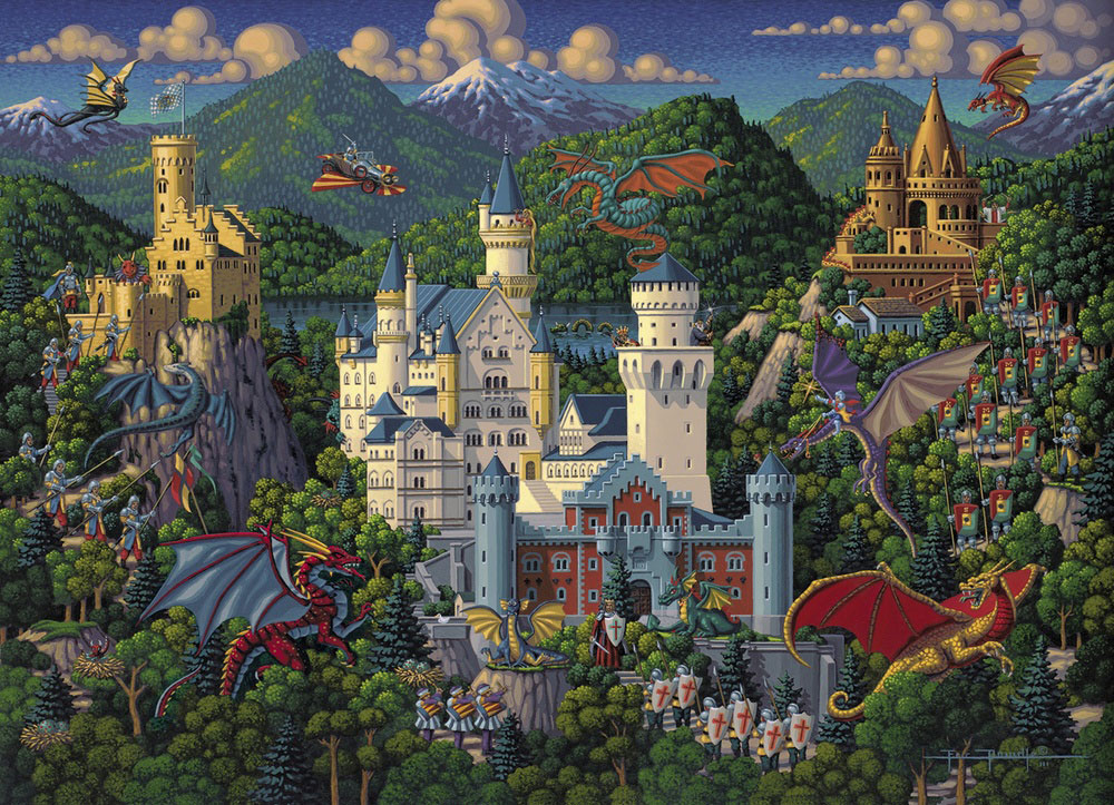 Imaginary Dragons Dragons Jigsaw Puzzle