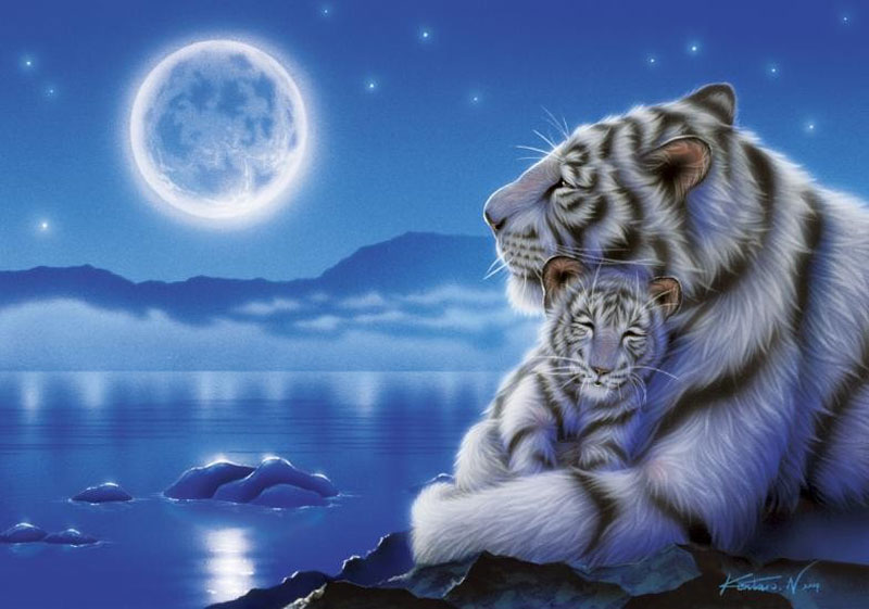 Lullaby Tigers Jigsaw Puzzle
