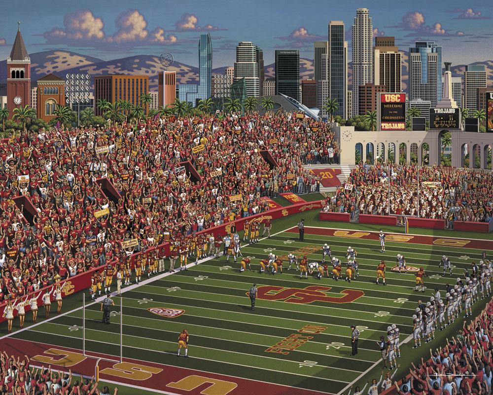 USC Trojans Skyline / Cityscape Jigsaw Puzzle