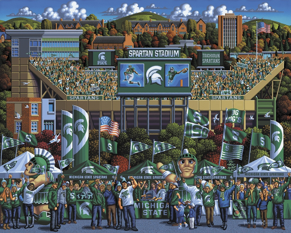 Michigan State Spartans Sports Jigsaw Puzzle