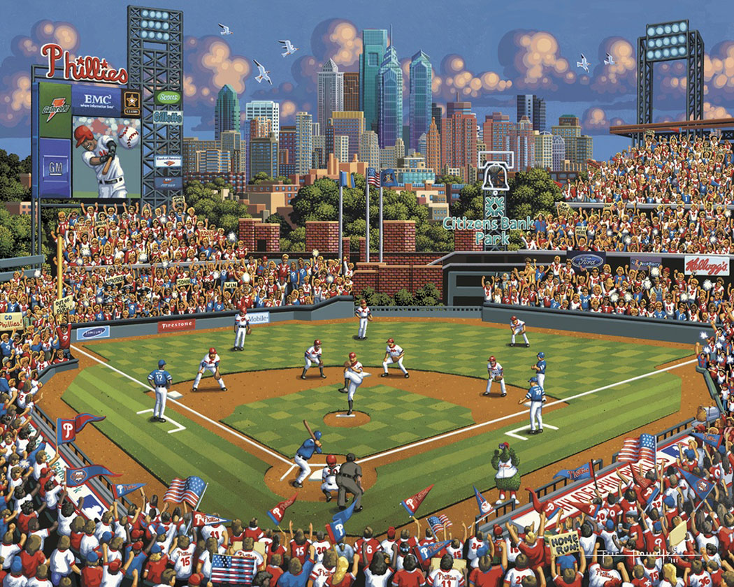 Philadelphia Phillies Americana & Folk Art Jigsaw Puzzle