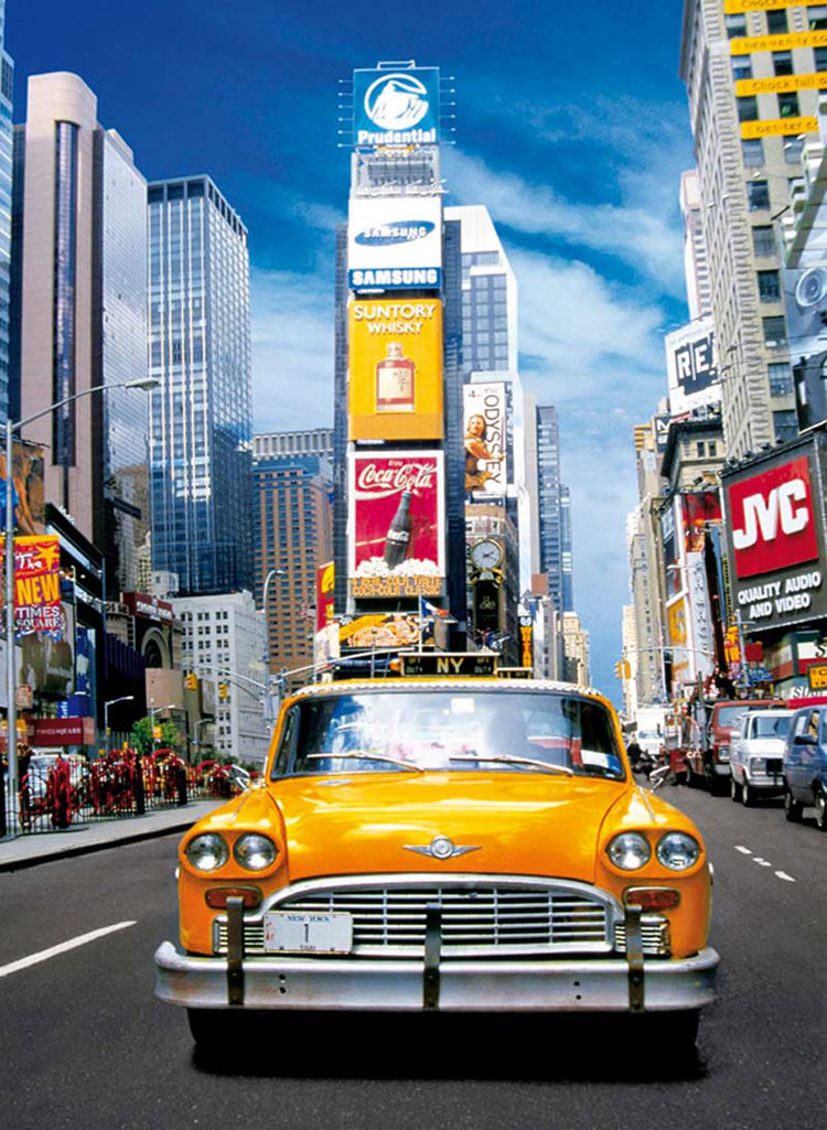 taxi in times square jigsaw puzzle. Black Bedroom Furniture Sets. Home Design Ideas