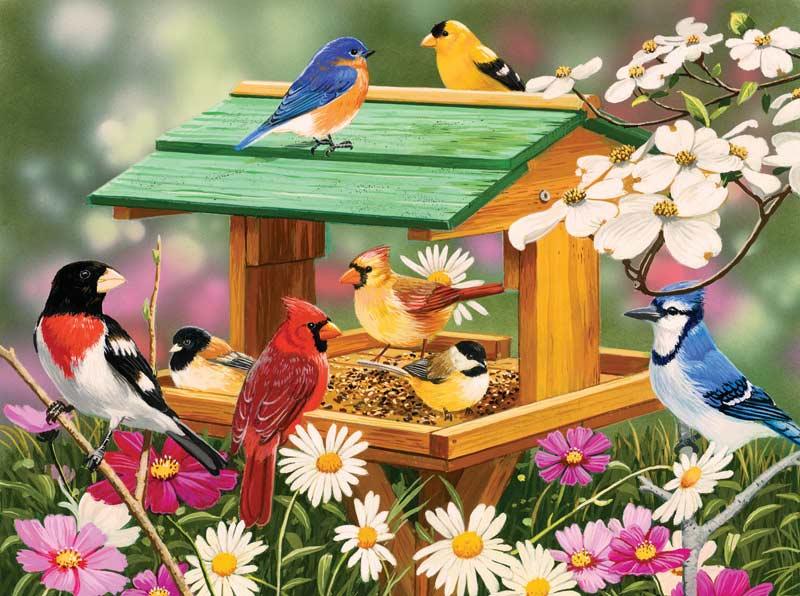 Spring Feast Birds Jigsaw Puzzle