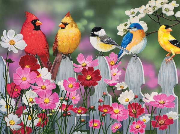 Songbirds and Cosmos - Scratch and Dent Birds Jigsaw Puzzle