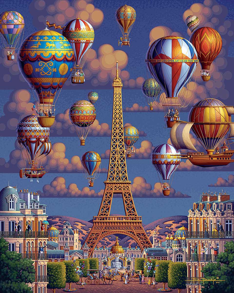 Balloons Over Paris Balloons Jigsaw Puzzle
