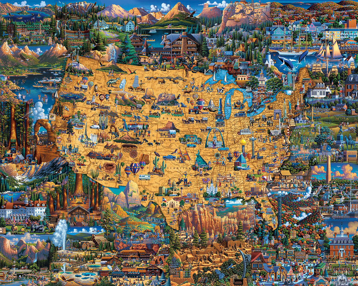 Best of America Maps / Geography Jigsaw Puzzle