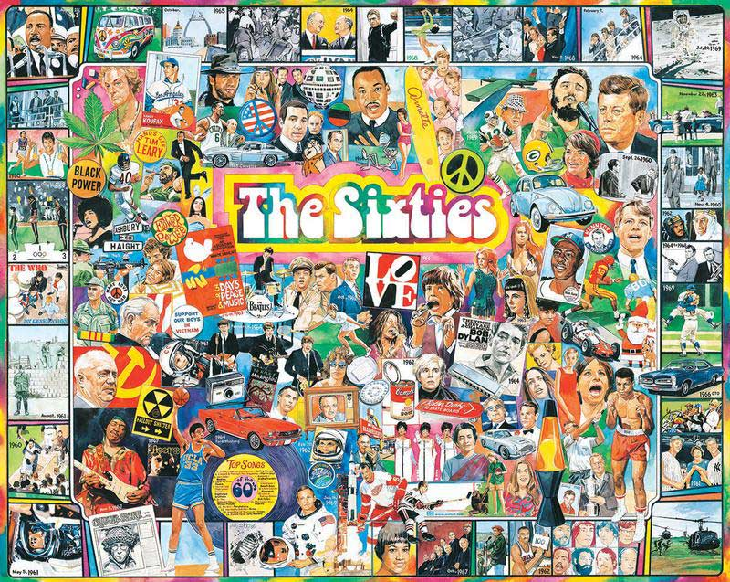 The Sixties Everyday Objects Jigsaw Puzzle