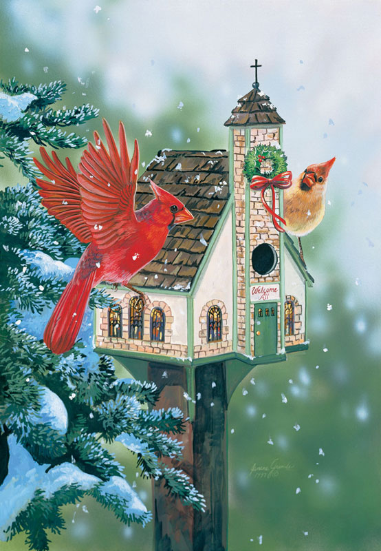 Welcome all Cardinals Birds Jigsaw Puzzle