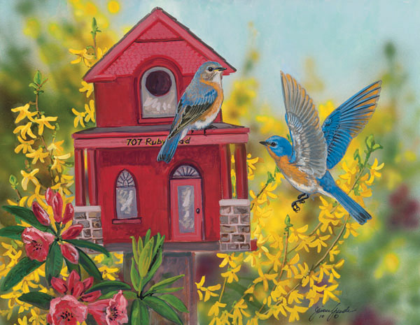 Ruby Road Estate Birds Jigsaw Puzzle
