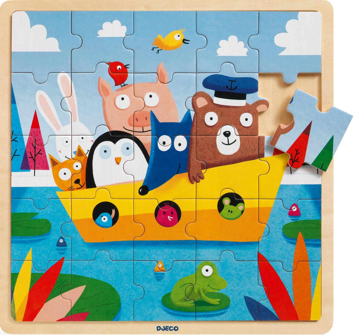 Puzzlo Boat Animals Jigsaw Puzzle
