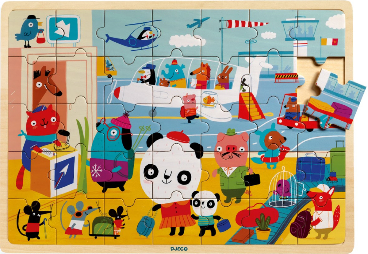 Puzzlo Airport Animals Jigsaw Puzzle