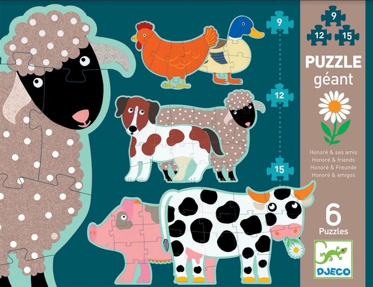 Honoré & Friends Animals Shaped Puzzle