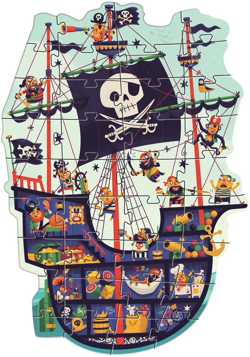 The Pirate Ship Boats Jigsaw Puzzle