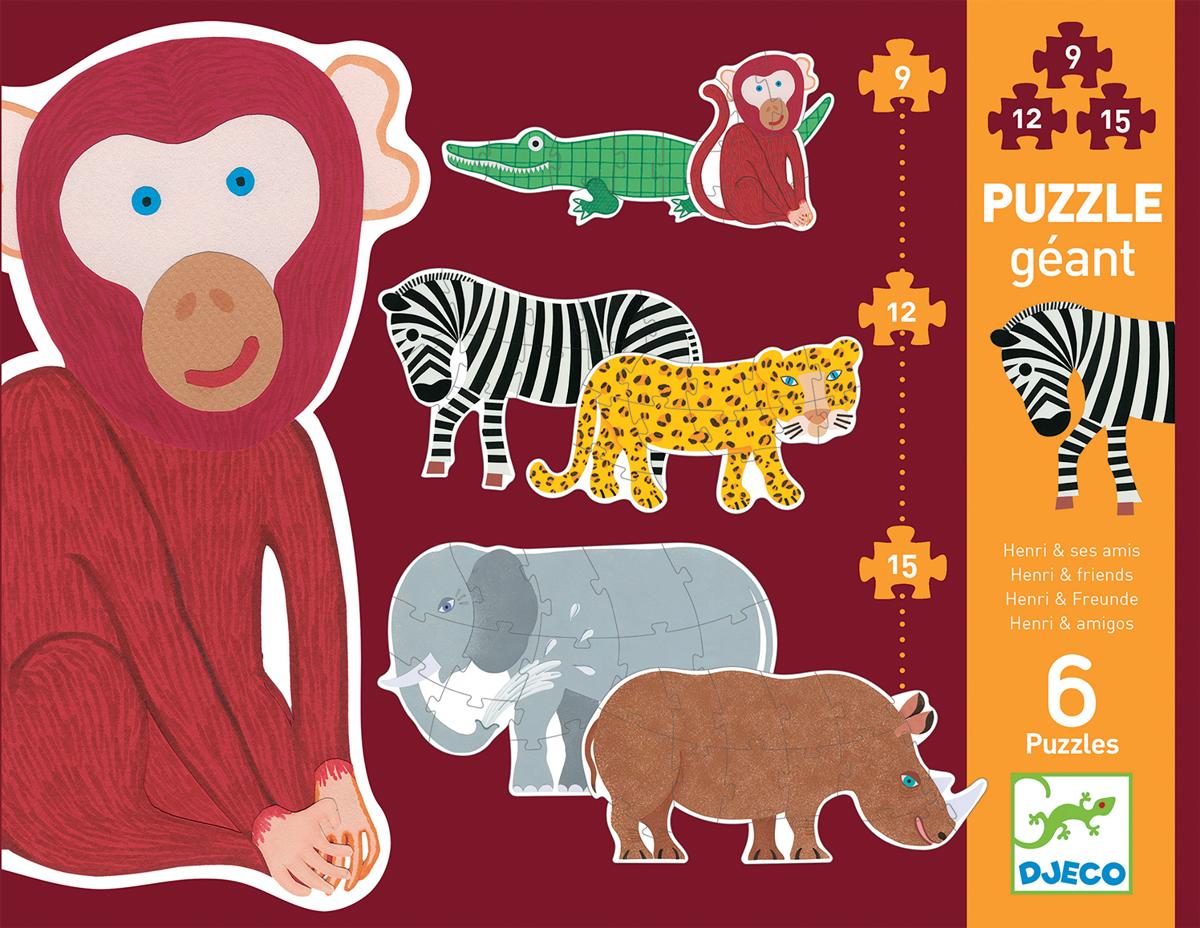 Henri & Friends Animals Shaped Puzzle