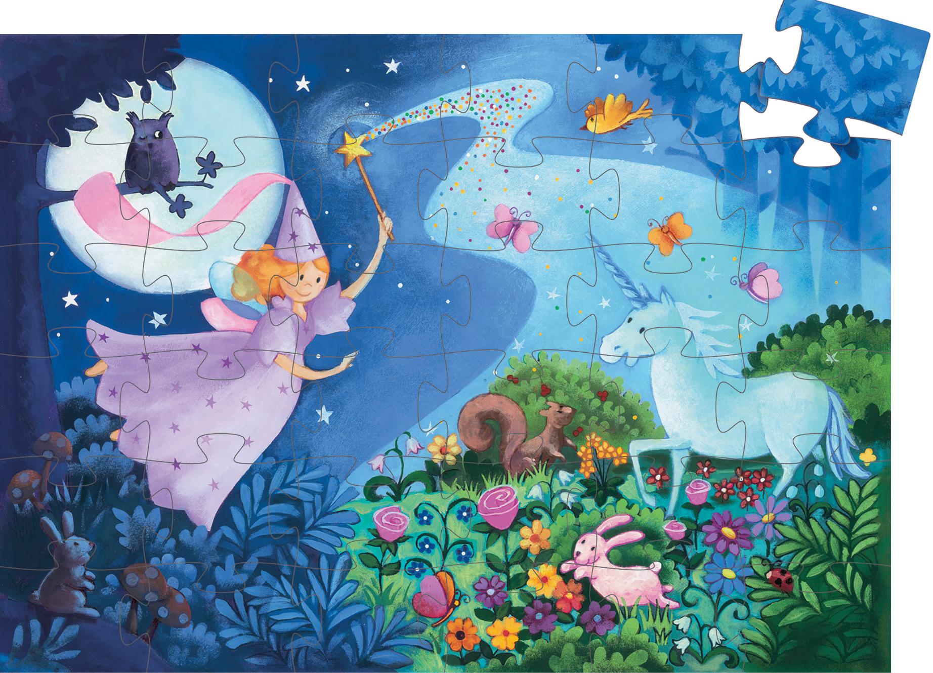 The Fairy And The Unicorn Fairies Jigsaw Puzzle