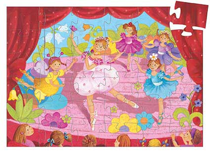 The Ballerina With The Flower Dance Children's Puzzles