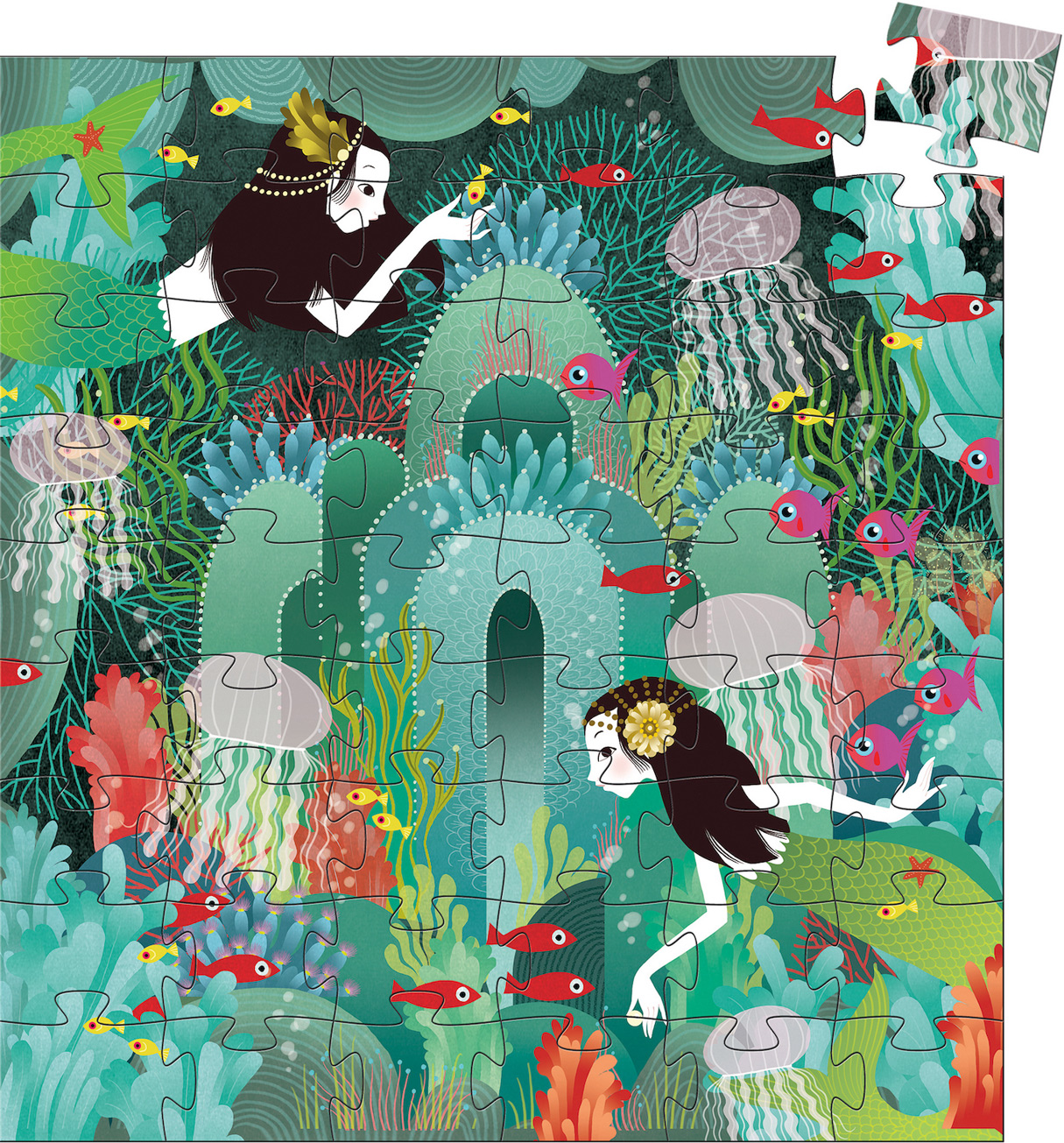 Aquatic Paradise Under The Sea Jigsaw Puzzle