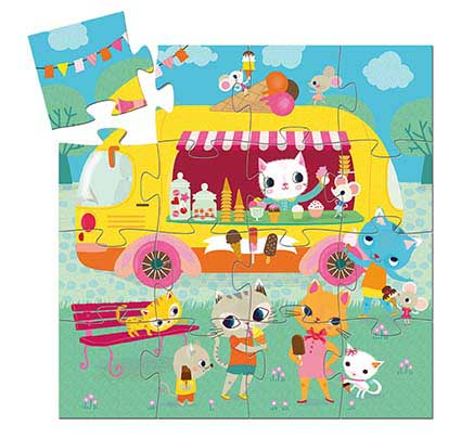 Ice Cream Truck Cats Children's Puzzles