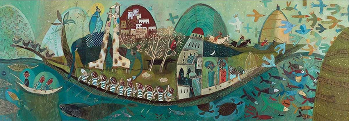 Poetic Boat Cultural Art Jigsaw Puzzle