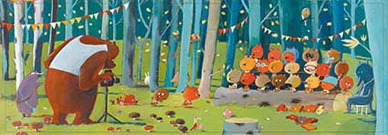Forest Friends Bears Jigsaw Puzzle
