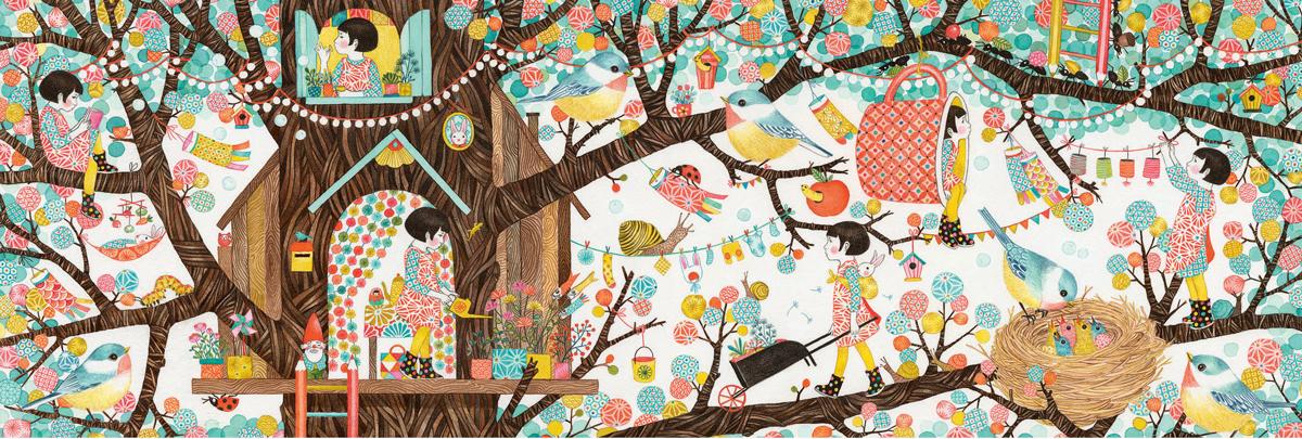 Treehouse Garden Jigsaw Puzzle