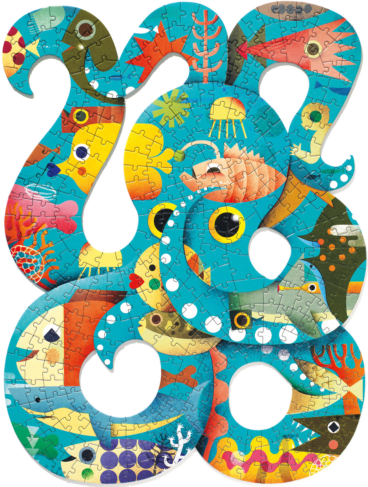 Octopus Under The Sea Shaped Puzzle