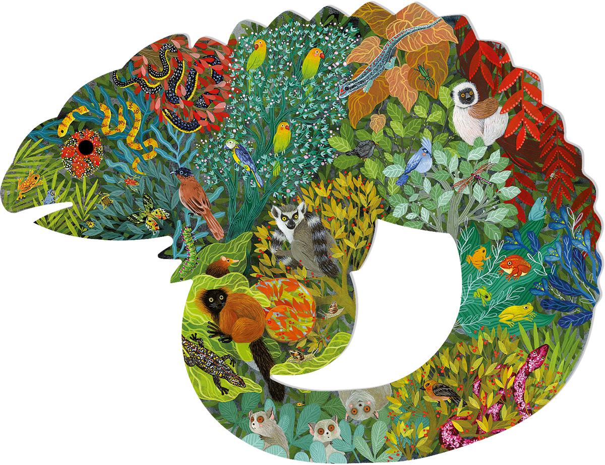 Chameleon Reptiles / Amphibians Shaped Puzzle