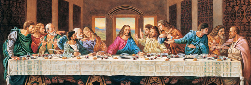 Puzzle Zabawki MasterPieces Inspirational The Last Supper 1000 Piece Panoramic Jigsaw Puzzle