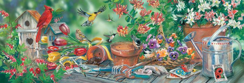 Garden Jamboree Flowers Jigsaw Puzzle