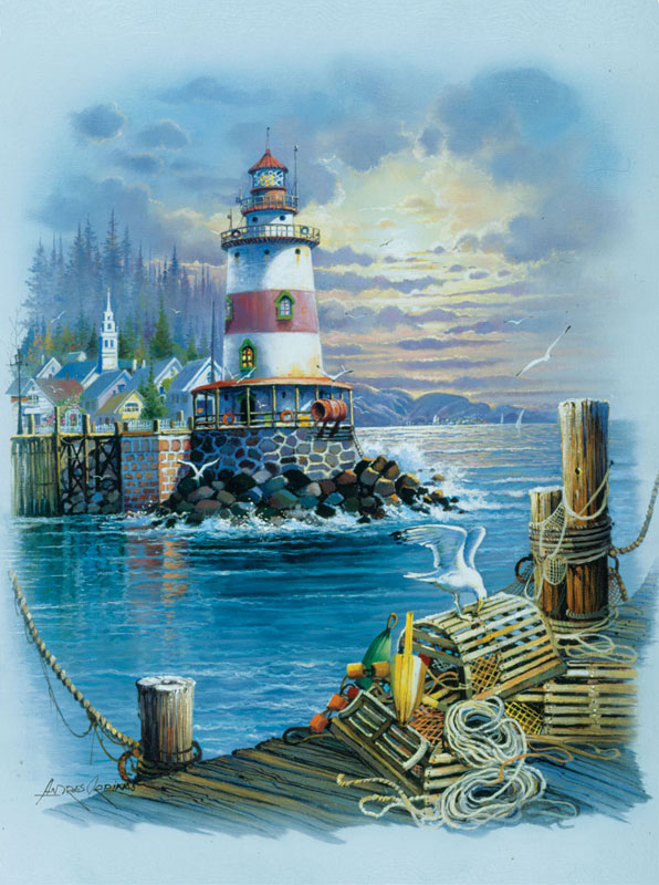 On the Wharf Lighthouses Jigsaw Puzzle
