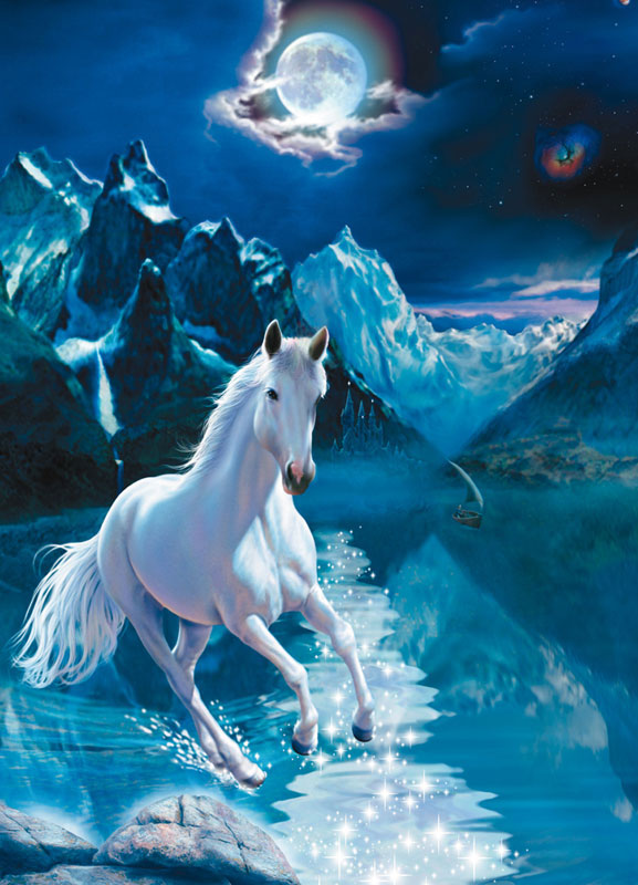 White Stallion Glow In The Dark Puzzle Puzzlewarehouse Com